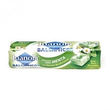 Juanola Caramelos Balsámicos Sabor Menta 30 gr - Vitamina C, Hierbas Meditarráneas