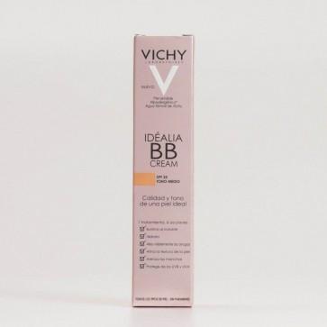 Vichy Idéalia BB Cream SPF 25 Tono Medio 40 ml - 6 Acciones, Hidrata 24H, Unifica el Tono de la Piel