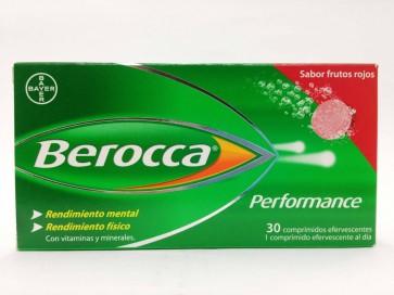 Berocca Performance Frutos Rojos 30 Comprimidos Efervescentes - Multivitaminico, Vitamina B, Vitamina C