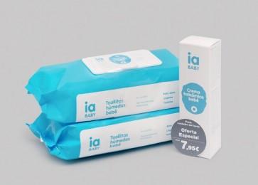 Pack Crema Bálsamo 75 ml + 2 Toallitas con Tapa de 72 Uds Cada Una de Interapothek - Para el Cuidado del Bebé