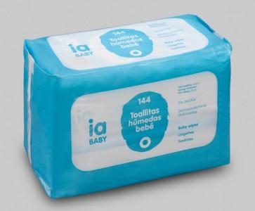 Toallitas Bebé Recambio de 144 Unidades de Interapothek - Pack Ahorro - Dermoprotectoras para la Higiene del Bebé