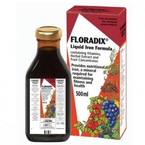 Floradix 500ml - Complemento Alimenticio con Hierro y Vitaminas - Glucanato Ferroso