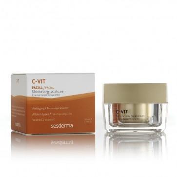 C-Vit Crema Facial Hidratante 50ml - Todo Tipo de Pieles - Devuelve Vitalidad y Luminosidad a la Piel