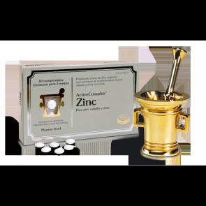 Activecomplex Zinc 60 Comp - Complemento Alimenticio para Piel, Uñas y Cabello - Favorece el Sistema Inmunológico