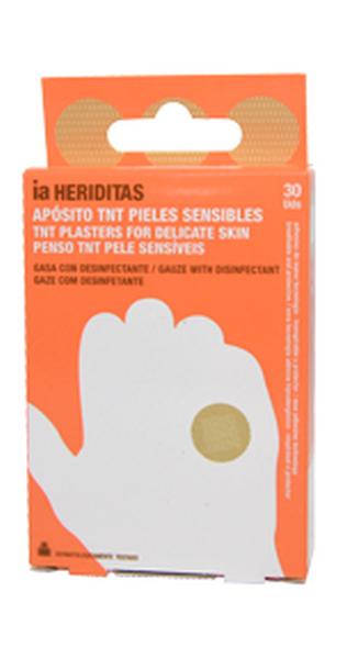Heriditas Redondo 30 Apósitos de Papel TNT - Transpirable e Hipoalergénico