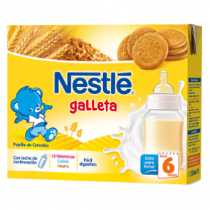 Nestle Papilla Liquida Galletas 2X250 Ml - Papilla de Galleta