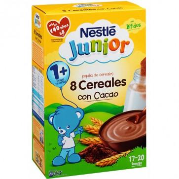 Nestle Papilla 8 Cereales Al Cacao 600G - Papilla de Cereales