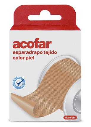 Acofar Esparadrapo Tejido Color Piel 5x5 cm - Botiquín, Vendaje