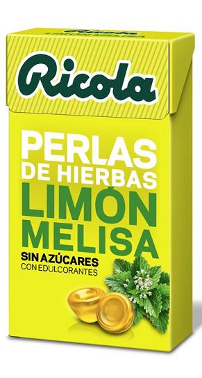 Ricola Perlas Limón Melisa Sin Azúcar 25 gr