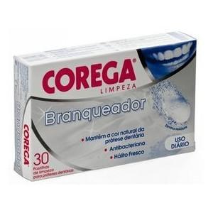 Corega Blanqueador 30 Tabletas - Limpieza Efervescente para Dentaduras Postizas