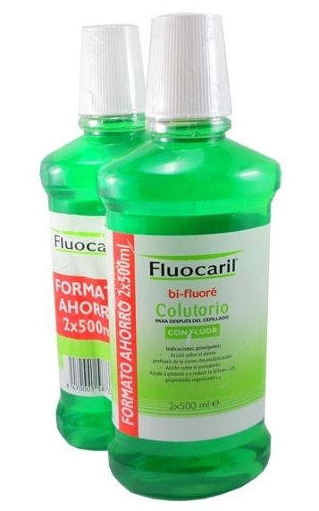Fluocaril Bi-Fluoré Colutorio con Flúor 2 x 500 ml - Enjuague Bucal