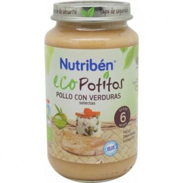 Nutribén Eco Pollo Con Verduras 250 gr - Potito Orgánico para Bebés +6 meses
