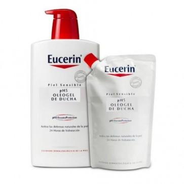 Eucerin Ecopack Oleogel de Ducha Piel Sensible pH5 1000 ml + 400 ml