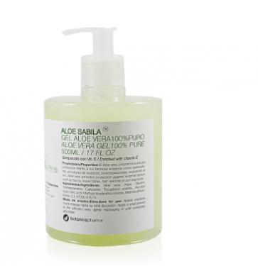 Sabila Gel Aloe Vera 100% Puro 500ml ECO Botanicapharma - Hidratante, Combate la sequedad e irritaciones