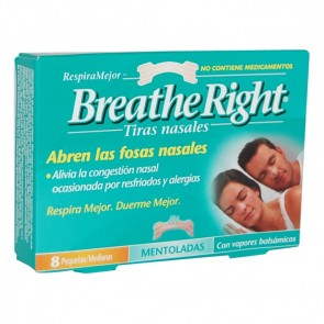 Tira Nasal Breathe Right Vapor 8 Unidades