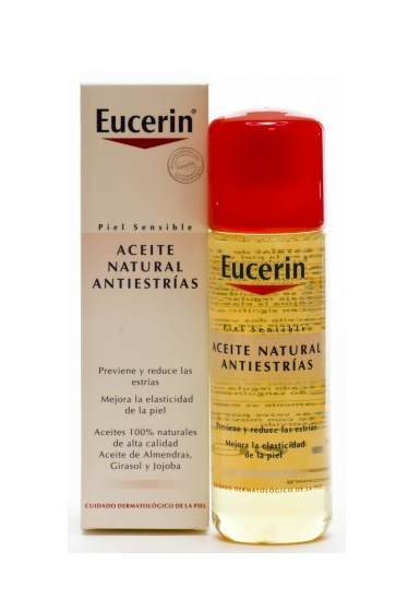 Eucerin Aceite Natural Antiestrías 125 ml - Aceites Naturales, Vitamina E