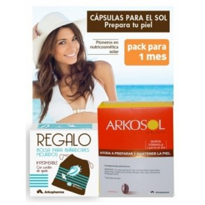 Arkosol Advance 30 Perlas - Prepara la Piel, Protege y Ayuda a su Pigmentación - Bolsa Bañador de Regalo