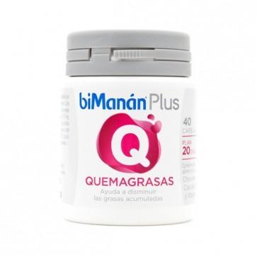 Bimanán Plus Q Quemagrasas 40 Cápsulas - Grasas Acumuladas, Perder Peso, Diurético