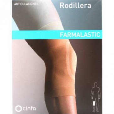Rodillera Farmalastic Talla Mediana - Cobertor Protector de Lesiones Tendinosas