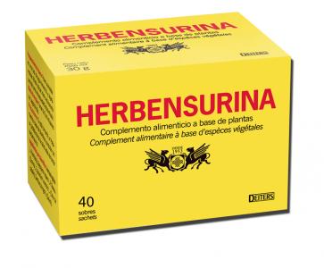 Deiters Herbensurina 40 Sobres-Filtro - Complemento Alimenticio para Infusión - Bienestar Vías Urinarias