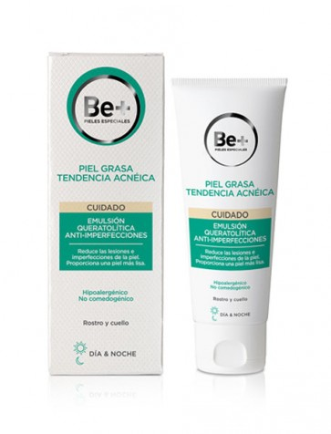 Be+ Emulsión Queratolítica Anti-Imperfecciones 40ml - Reduce Puntos Negros y Granos