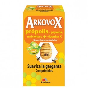 Arkovox Própolis + Vitamina C 24 comps. masticables sabor Cítricos