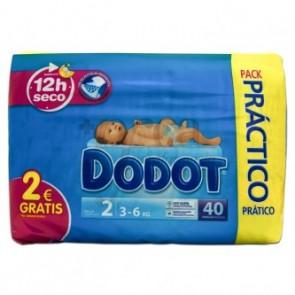 Pañal Dodot Primeros Meses 40 Uds Talla 2 - Pañal Infantil para Bebés de 3-6 kg