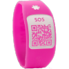 Pulsera Silincode QR Rosa Talla XS - Guarda Tus Datos Médicos y De Contacto Para Casos de Emergencia