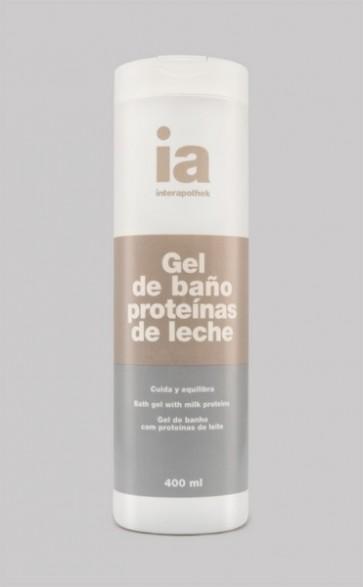 Gel de Baño de 400 ml Interapothek con Proteínas de Leche - Nutre y Revitaliza Todo Tipo de Pieles