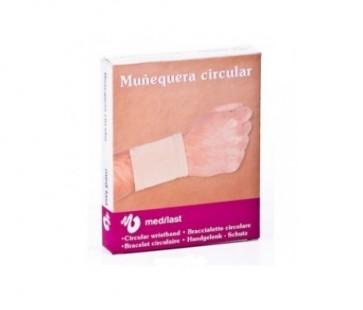 Medilast Muñequera Circular Elástica Beige Mediana - Contención de la Muñeca