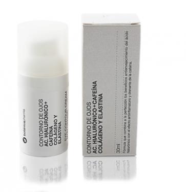Contorno de Ojos con Ácido Hialurónico + Cafeína 30ml Botanicapharma - Rejuvenece el contorno de ojos