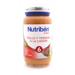 Potito Nutribén Grande Pollo Ternera Verduras 250 gr - Alimento Bebés +6 meses