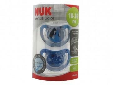 NUK Genius Chupete Silicona Color t3 - Sofisticada Tecnología para el Desarrollo Bucal de Su Bebe