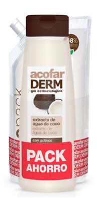Pack Acofar Gel Coco 750ml + Ecopack 750ml - Hidratante, Higiene, Piel