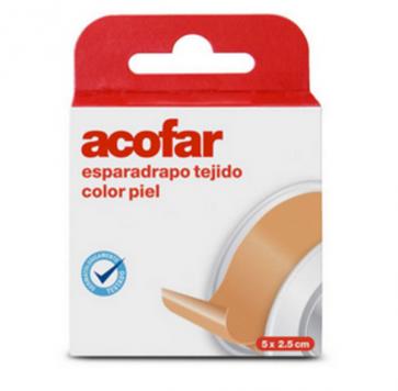 Acofar Esparadrapo Tejido Color Piel 5x2.5 cm - Botiquín, Vendaje