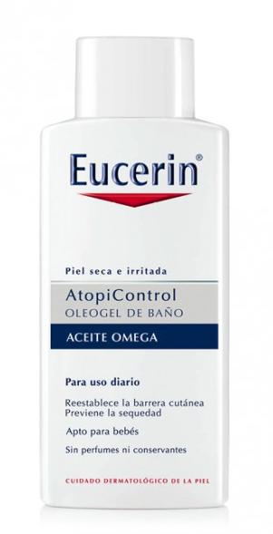 Eucerin Atopicontrol Oleogel de Baño Uso Diario 400 ml - Piel Atópica, Omega 6