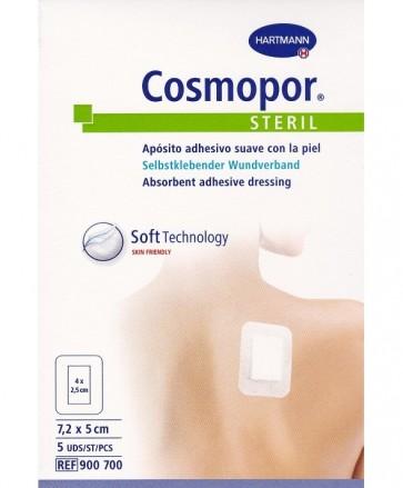 Cosmopor Steril 7,2 X 5 Cm 5 Unidades