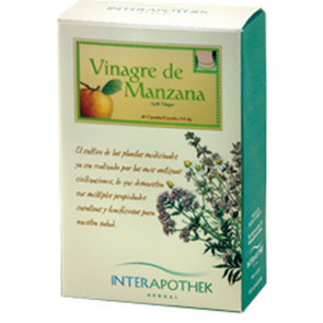 Vinagre de Manzana 60 Cápsulas de 340 mg de Interapothek - Depurativo Intestinal y Saciante de Origen Natural