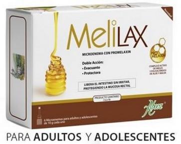 Aboca Melilax 6 Microenemas - Alivia el Estreñimiento en Adultos y Adolescentes