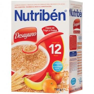 Nutriben Desayuno Copos De Trigo y Fruta 750 Gr - Papilla Infantil