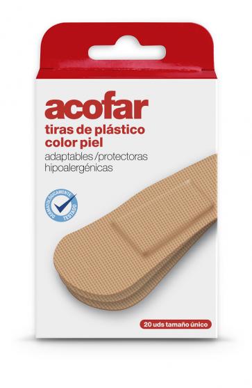 Acofar TIRAS plástico color piel 20 unidades - heridas