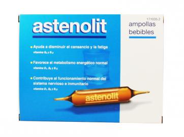 Astenolit Ampollas Bebibles 12 Udes 10 ml - Complemento Alimenticio a Base de Minerales y Vitaminas