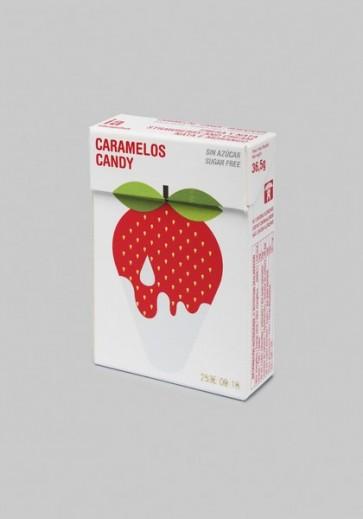 Caramelos 36.5 gr Sabor Nata-Fresa Sin Azúcar Balmelos - Marca Interapothek - Refresca y Despeja tu Nariz y Garganta