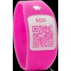 Pulsera Silincode QR Rosa Talla S - Guarda Tus Datos Médicos y De Contacto Para Casos de Emergencia