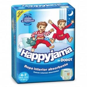Pañal Dodot Happyjama Niño 17 Uds - Para Niños de 4 a 7 Años y 17-29 kg, Ropa Interior Absorbente