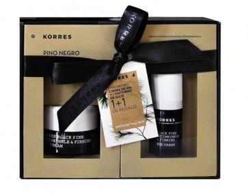 Korres Pack Pino Negro para Pieles Secas a Muy Secas - Crema de Día y Contorno de Ojos