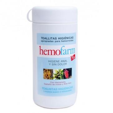 Hemofarm Plus Toallitas Bote 60 Unidades - Cuidado de las Hemorroides y Fisuras Anales