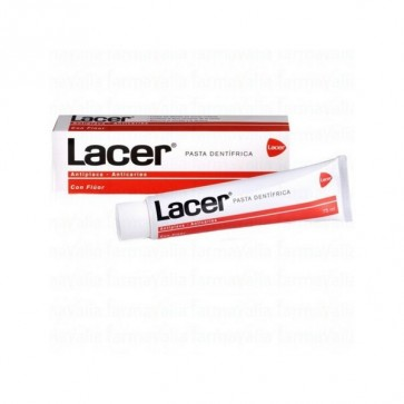 Pasta de Dientes Lacer 75 ml - Dentífrico con Flúor Anticaries