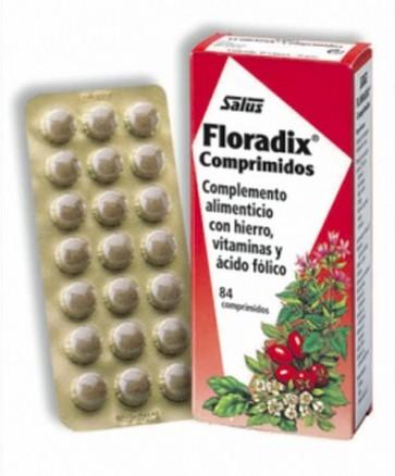 Floradix 84 caps - Complemento Alimenticio con Hierro y Vitaminas - Glucanato Ferroso