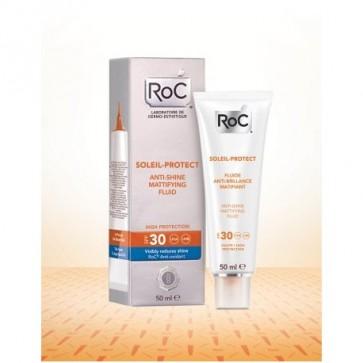 Soleil-Protect Matificante spf 30 ROC - Reduce el Brillo de la Piel y la Rejuvenece Protegiendote